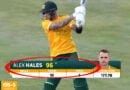 VIDEO:6 फुट 5 इंच के बल्लेबाज ने, 14 गेंदों पर ठोके 64 रन, एक ओवर में ठोके 55 रन