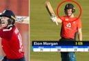 मॉर्गन ने मचाया गदर, 21 गेंदो पर ठोके 118 रन, अकेले राशिद खान पर लगे 11 छक्के, मैच में बने 643 रन